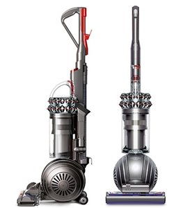 Front and side view of Dyson Cinetic Big Ball Animal Upright vacuum cleaner